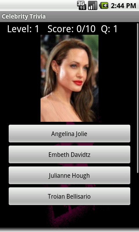 Celebrity Trivia - screenshot