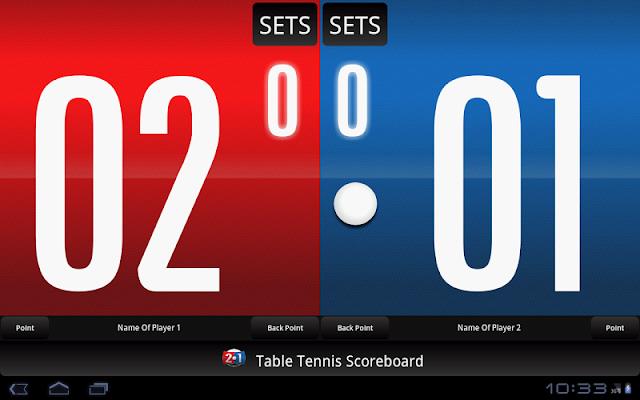 Table Tennis Scoreboard - screenshot