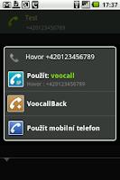 Screenshot of VooCall.cz CSipSimple plugin