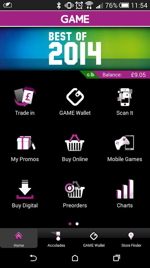 GAME Reward Mobile App - screenshot