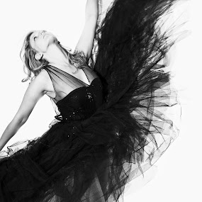 Black Swan by Savio Joanes - Black & White Portraits & People