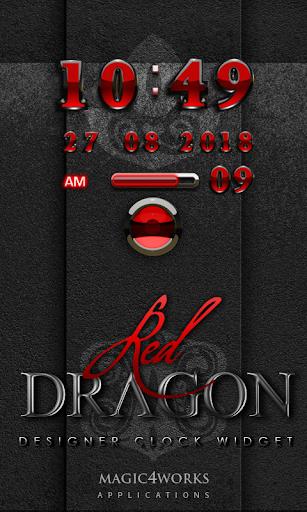 Red Dragon 2 Digital Clock