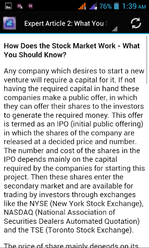 【免費商業App】How Does The Stock Market Work-APP點子