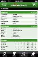 Screenshot of Regio-voetbal.nl