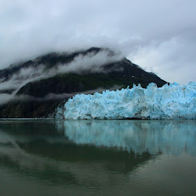 Reflection of Glacier Bay by Rhonda Silverton - Landscapes Mountains & Hills ( glacier, reflection, mountain, alaska, glacier bay, usa,  )