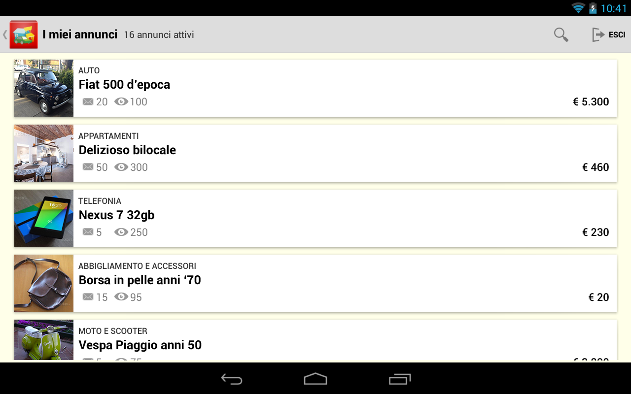 App android su google play for Subito casa milano