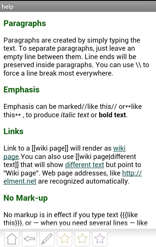 ElWiki - notes by you- screenshot