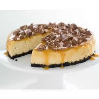 TOBLERONE-Topped Caramel Cheesecake.