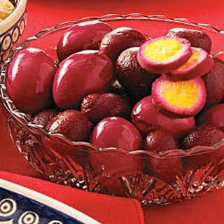 Pickled Eggs with Beets.
