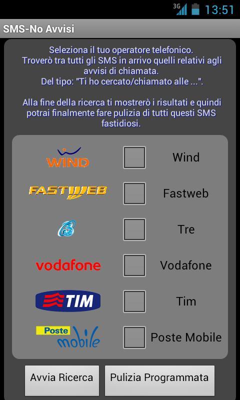SMS-No Avvisi - screenshot