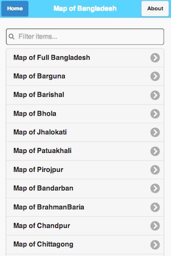 Map of Bangladesh - মানচিত্র