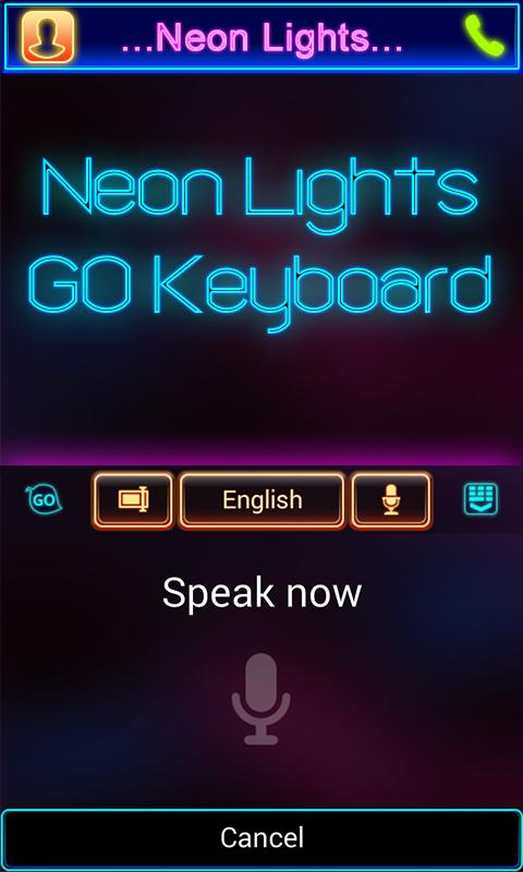 Neon Lights GO Keyboard Theme - screenshot