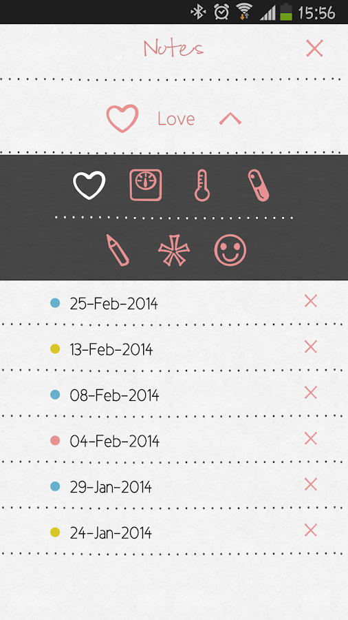 LoveCycles Menstrual Calendar - screenshot