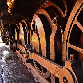Loco Drive by Richard Wicht - Transportation Trains ( coupling rod, locomotive, wheels, power, train, mechanical, steel, steam,  )