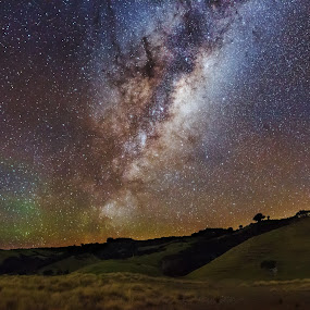 Man O'war Milky Way by Mikey Mackinven - Landscapes Starscapes ( sign, milkyway, stars, night, new zealand, galaxy, milky way )