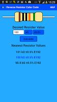 Screenshot of Resistor Color Code