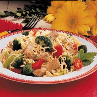 Curly Noodle Pork Supper