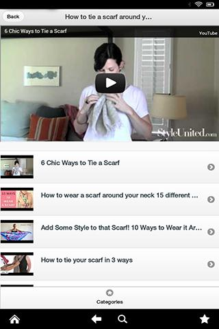 How to tie a scarf with video - screenshot