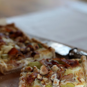 Savory Hazelnut Quiche with Leeks Wrapped In Prosciutto