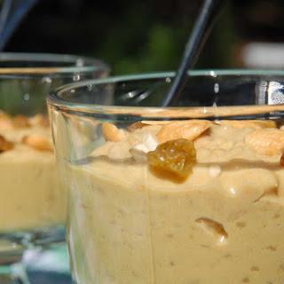 Mango, caramel and cardamom rice pudding (Aam payesh).