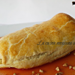 Poblano Chili Covered with Puff Pastry