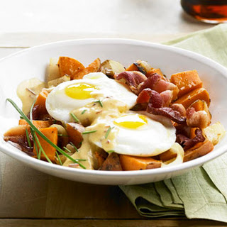 Sweet Potato Hash with Spicy Hollandaise