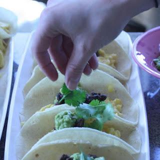 Individual Huevos Rancheros with Chipotle Black Beans and Creamy Avocado