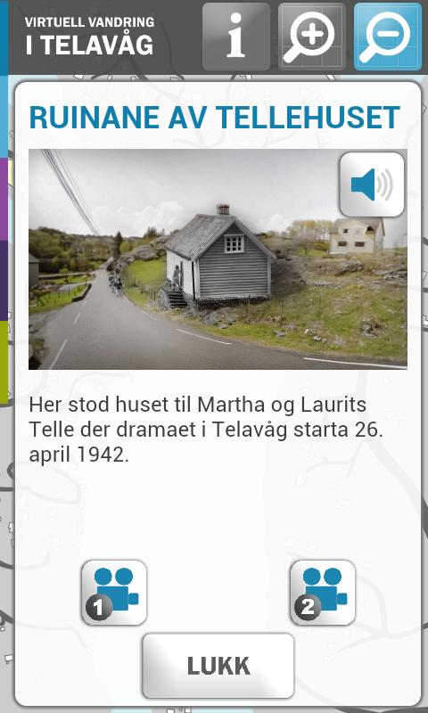 Virtuell Vandring Telavåg- screenshot