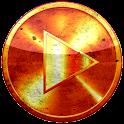 Poweramp skin ORANGESUN GRUNGE icon