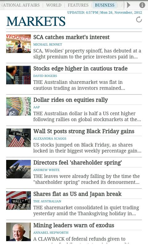 The Australian - screenshot