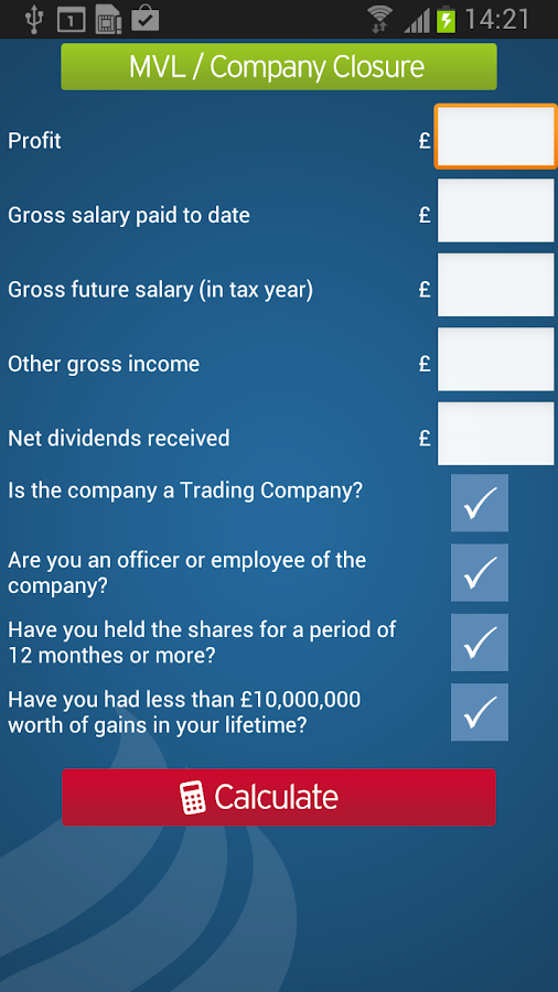Nixon Williams: Tax Calculator- screenshot