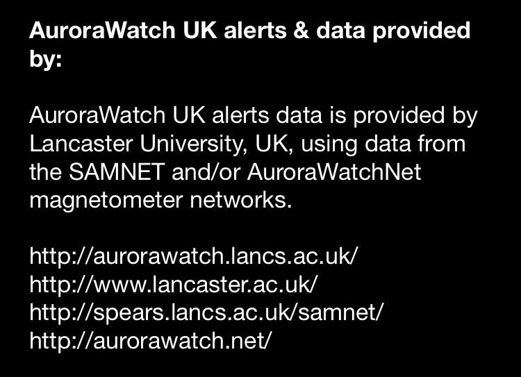 AuroraWatch UK- screenshot