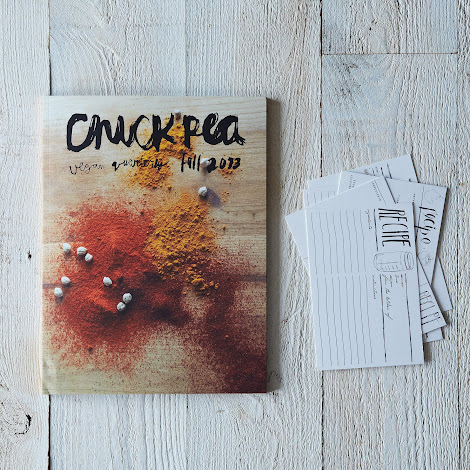 Chickpea Vegan Quarterly with Set of 6 Modern Recipe Cards