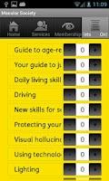 Screenshot of Macular Society