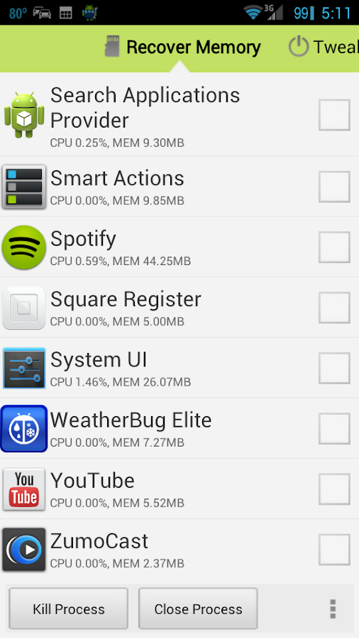 Android AutoClean - screenshot