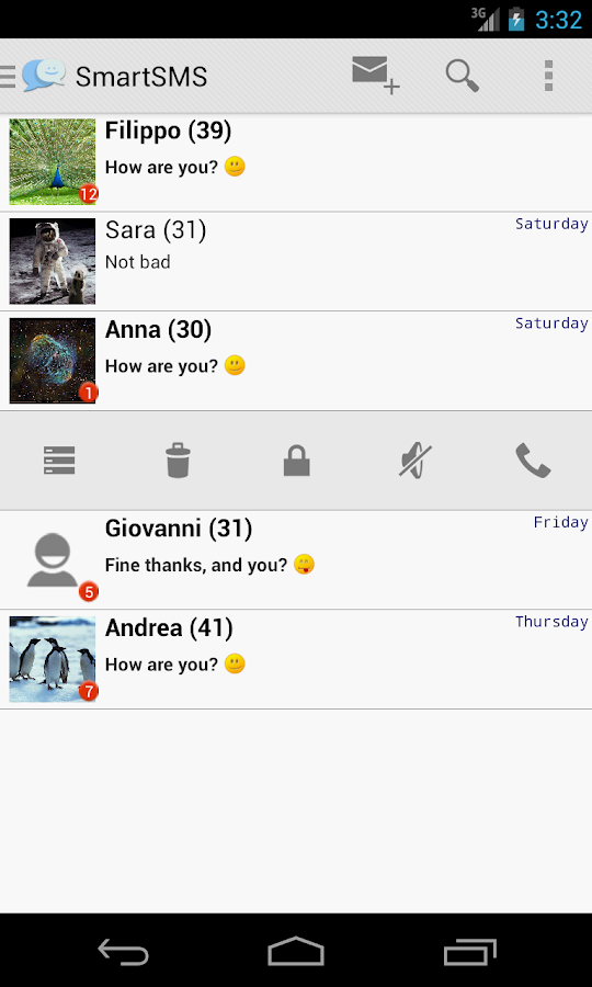 SmartSMS - Free - screenshot