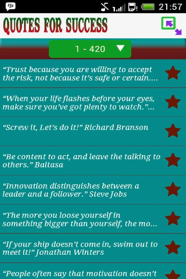 Quotes For Success - screenshot