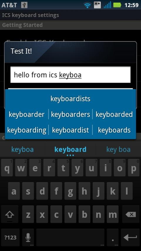 Italian for ICS Keyboard- screenshot