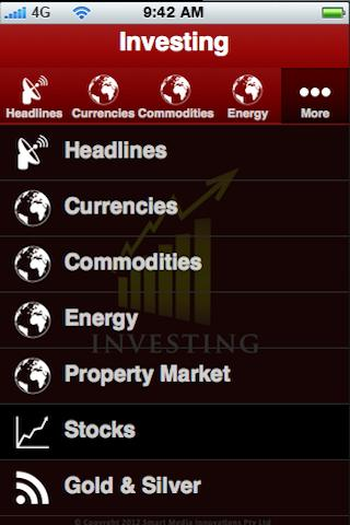 Investing - screenshot