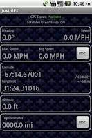 Screenshot of Just GPS