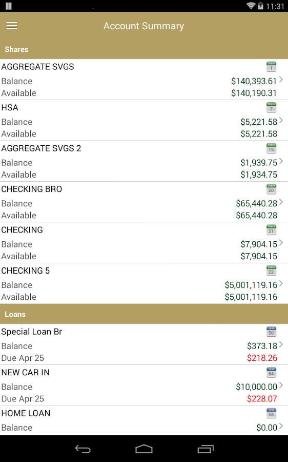 Allentown FCU Home Banking- screenshot