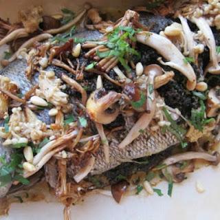 Whole Roast Fish for 2 With Mushroom Pesto and Roasted Wild Mushrooms