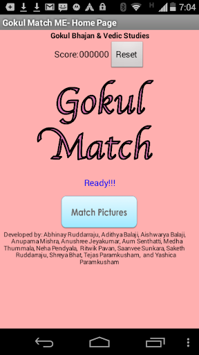 Gokul Match