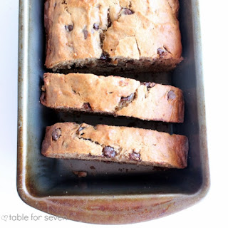Peanut  Butter Chocolate Chip Banana Bread.