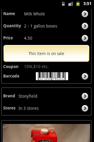 Grocery Gadget Lite - screenshot