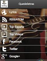 Screenshot of Letras de Canciones de Música