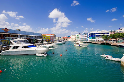 waterfront-Bridgetown-Barbados - The waterfront in Bridgetown, capital of Barbados.