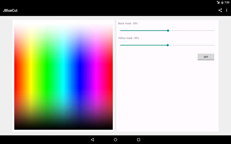 JBlueCut Pro - Screen filter