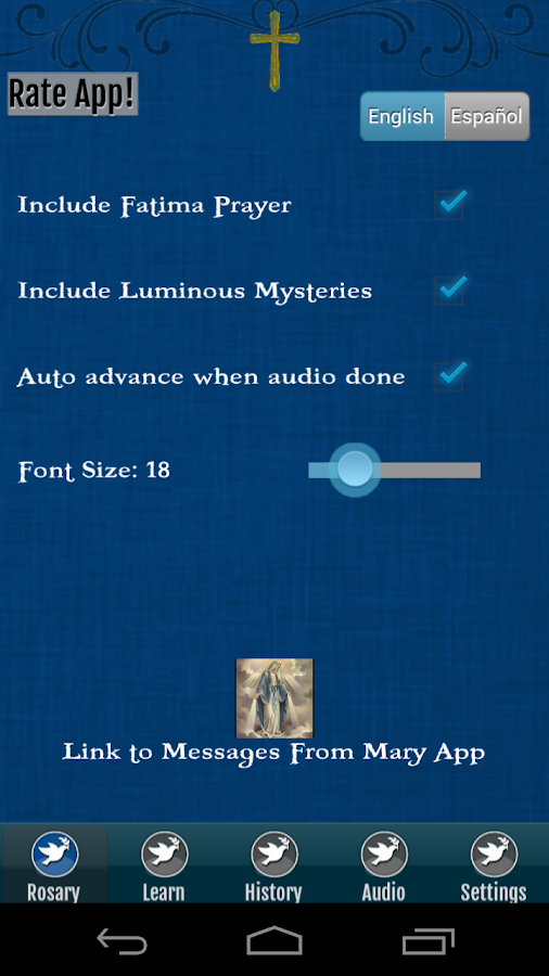 Rosary Audio - screenshot