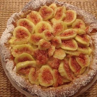 Fresh Fig puff pastry tart.